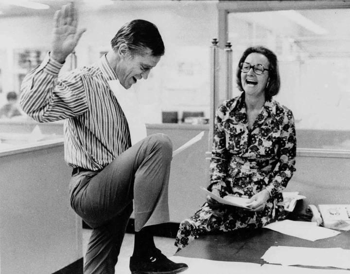 Ben Bradlee and Katharine Graham of the Washington Post